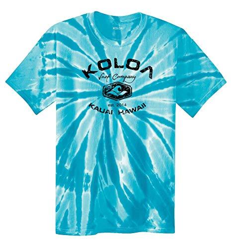 Koloa Surf(tm) Vintage Arch Logo Tie Dye Shirt-Turquoise/b-S ()