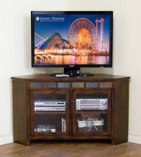 Santa Fe Corner TV Console - Santa Fe Entertainment Wall