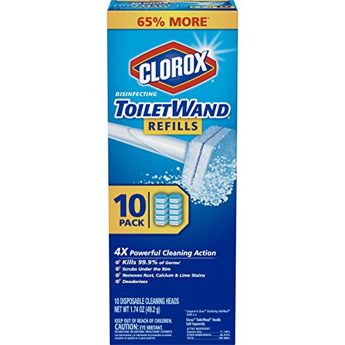 Clorox ToiletWand Disinfecting Refills, Disposable Wand Heads - 10 ()