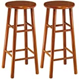 winsome wood assembled 30inch cherry finish bar stools set of 2