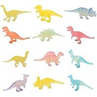 TOYANDONA 12pcs Glow in Dark Mini Dinosaur Toy Set Plastic Realistic Dinosaur Figures for Kid Birthday Party Favors…