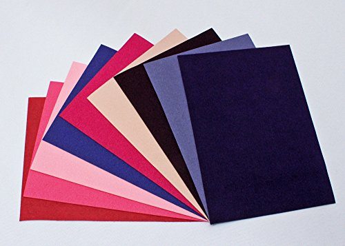 Black Ultra Suede - Ultrasuede ST (Soft) 6 Piece Variety Pack - Assorted 5