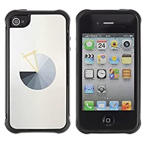 Suave TPU Caso Carcasa de Caucho Funda para Apple Iphone 4 / 4S / Pie Chart Grey Abstract Minimalist Grey / STRONG