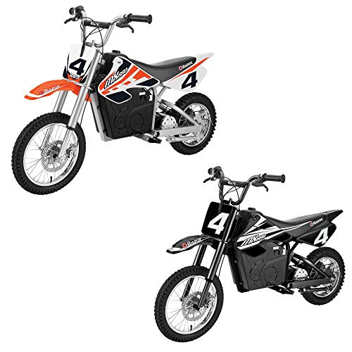 Razor MX650 Dirt Rocket Ride On High-Torque Electric Motocross Motorcycle Dirt Bike, Speeds up to 17 MPH, 1 Orange & 1 Black