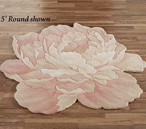 Nourison Juliette Round Flower Rug Rose Blush
