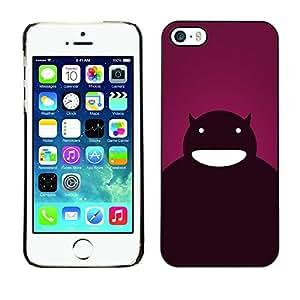[Neutron-Star] Snap-on Series Teléfono Carcasa Funda Case Caso para iPhone 5 / 5S [Arte de la historieta Carácter Diablo boca grande]