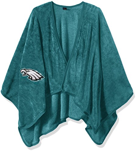 The Northwest Company Officially Licensed NFL Philadelphia Eagles Silk Touch Throw Blanket Wrap with Applique