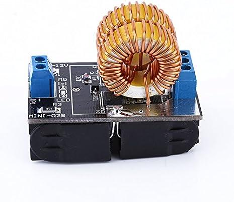 Yosoo 5 V-12 V ZVS inducción calefacción Junta Módulo de alimentación módulo fuente de alimentación Tesla Jacob de escalera con bobina: Amazon.es: Electrónica