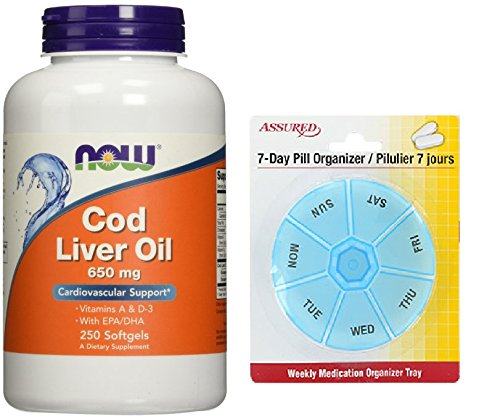 Amazon.com: Aceite de hígado de bacalao ahora 650 mg, 250 cápsulas: Health & Personal Care