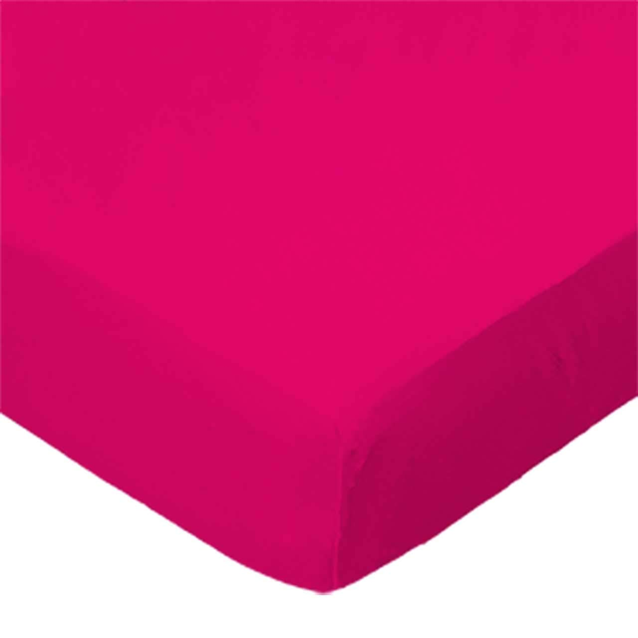 SheetWorld Fitted (Fits BabyBjorn Travel Crib Light) Sheet - Hot Pink Jersey Knit - Solid Colors by sheetworld   B004FUNGN4