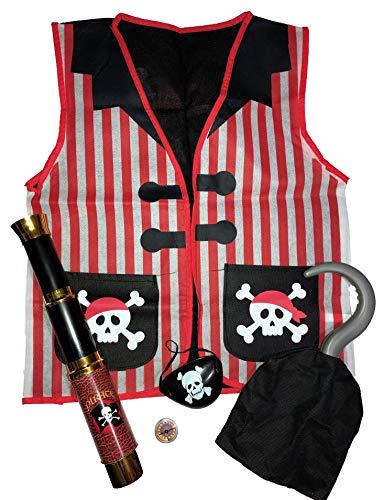 5 Piece Pirate Role Play Dress up Set -