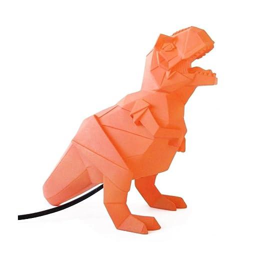 Dinosaur Lamp Orange Origami T Rex Night Light By Disaster Designs