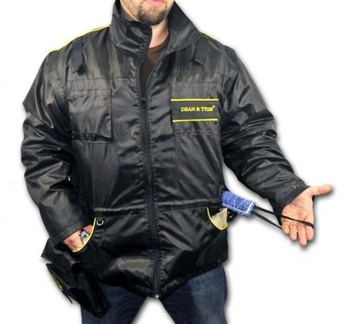 DT Dog Training Vest with Removable Long Sleeves, Black/Yellow, X-Large (Size: 44-Inch) by Dean & Tyler (Image #2)