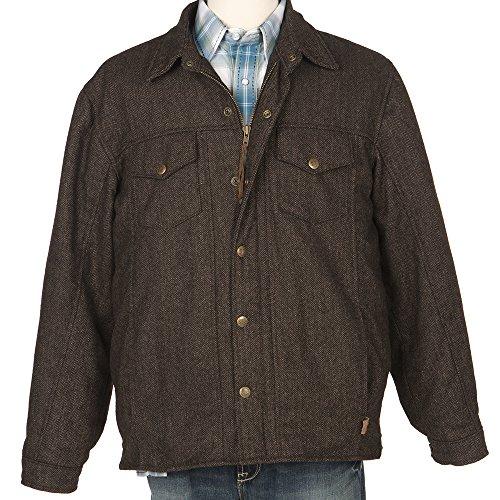 STS Ranchwear STS Ranch Wear Mens Wool Tweed Jacket S Chocolate (Tweed Jacket Wool)
