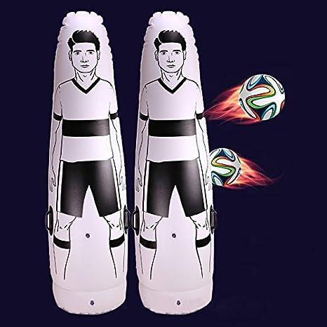 espeedy 1.75 m adultos niños Entrenamiento de Fútbol portería hinchable Keeper Tumbler Air Fútbol Tren Dummy
