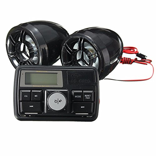 US Warehouse - Motorcycle Handlebar Stereo System Radio Amplifier MP3 Speakers with Bluetooth Function