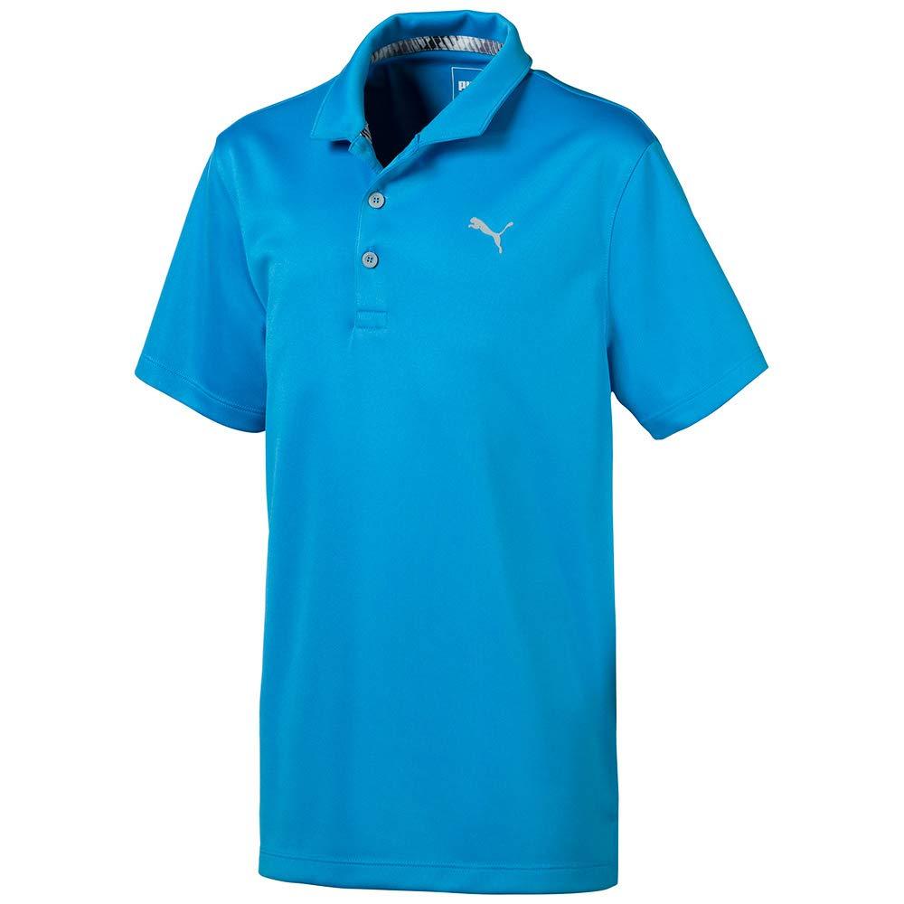 Puma Golf Boys 2019 Polo, Bleu Azure, Small