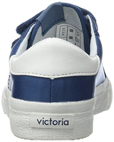Eu Bebé azul Tribu Nylon Velcros Unisex Zapatillas 36 Victoria Bleu wqHCXzXx