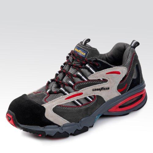 Chaussures de sécurité basses S1P «2500» ,daim et textile, embout en acier , semelle anti-perforation composite, semelle intermédiare en EVA, semelle en PU HRO, trés légère