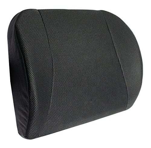 Bamboo Charcoal Memory Waist Cushion Back Lumbar Support- Black by Yenzch