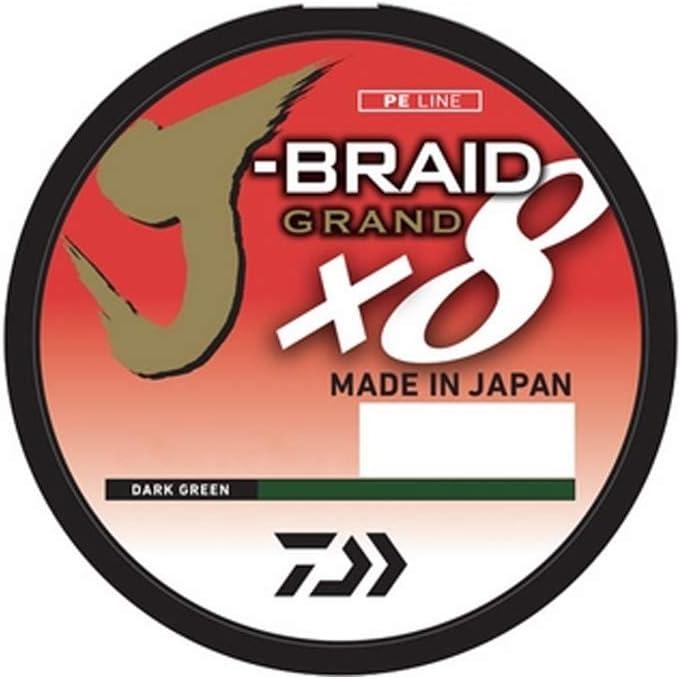 Daiwa J-Braid x8 0,35mm 36,0kg 1500m Dark Green Braided String Fishing Line