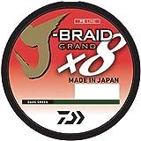 Daiwa J-Braid x8 Braided Line DARK GREEN 120lb 3300yd JB8U120-3000DG