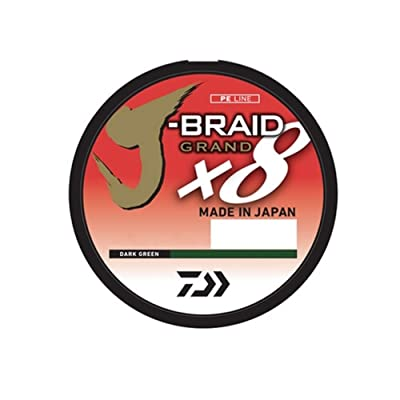 Daiwa J-Braid Grand 8 Strand Braided Line 6lb 300yd Filler Spool Dark Green