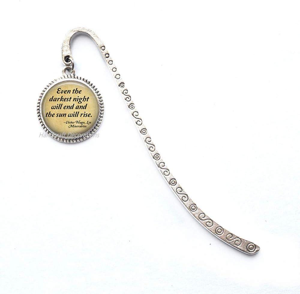 Quote Bookmark-Book Bookmark Bookmarker-Even The Darkest Night Will end Book Bookmark,Book Charm Bookmar.F294k (E1)