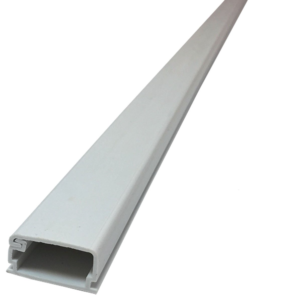 Medium Latching Surface Cable Raceways - (5 x 59'' Sticks = 24.5FT) - Color: White
