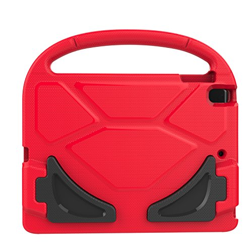 iPad Mini 1 2 3 4 Kiddie Case, Dteck Lightweight [Kids Friendly] Handle Convertible Stand Shockproof Case Protective Cover for Apple iPad Mini 1/2/3/4, Red