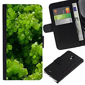 KingStore / Leather Etui en cuir / Samsung Galaxy S4 Mini i9190 / Spring Green Plant Summer Sun
