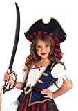 Leg Avenue Enchanted Caribbean Pirate Costume (2 Piece), Multicolor, Small