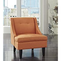 Clarinda Orange Color Accent Chair
