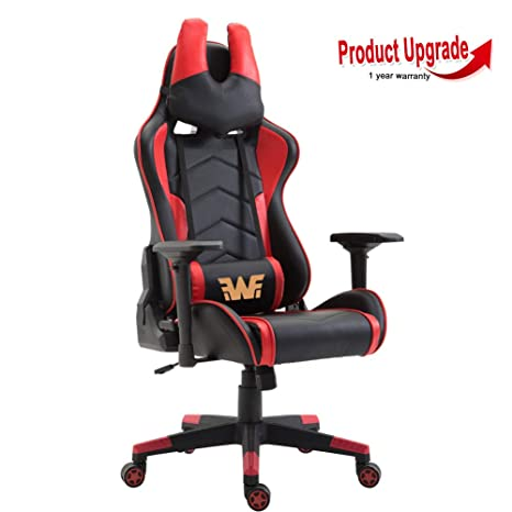 Fabulous Wahson Racing Gaming Office Chair With U Shape Headrest Ergonomic Swivel Computer Desk Chair High Back Pu Leather With 4D Adjustable Arms Recliner Squirreltailoven Fun Painted Chair Ideas Images Squirreltailovenorg