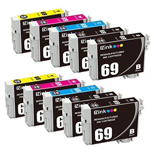 E-Z Ink (TM) Remanufactured Ink Cartridge Replacement for Epson 69 for Epson Stylus C120 CX5000 CX6000 CX8400 CX9400 NX215 NX305 NX400 NX410 NX415 NX515 Epson WorkForce 1100 1300 30 310 615 (10 (Epson Stylus Color Printers)