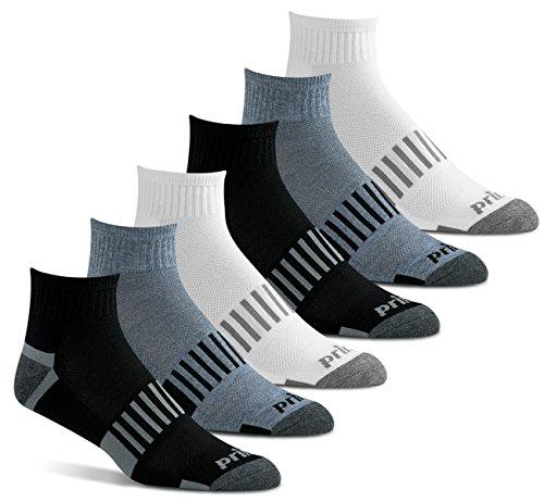 Prince Men's Quarter Performance Athletic Socks for Running,