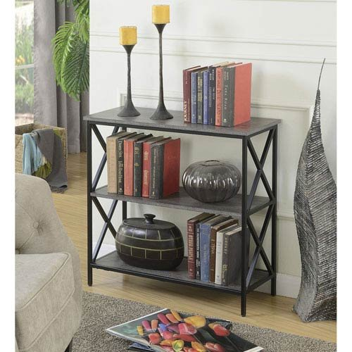 Convenience Concepts Tucson 3-Tier Bookcase, Black 161833BL