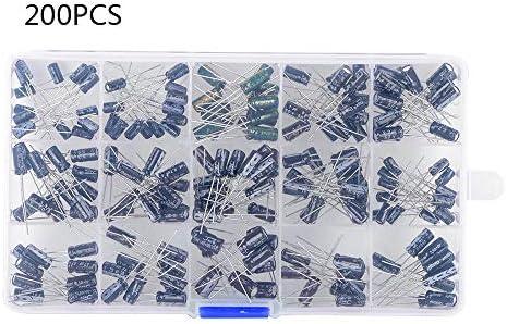 [해외]lecimo 200pcs DIY 15 Values 0.1uF-220uF Electrolytic Capacitor Assortment KitBox / lecimo 200pcs DIY 15 Values 0.1uF-220uF Electrolytic Capacitor Assortment KitBox