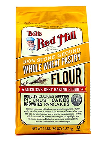 Bob's Red Mill Pastry Flour Whole Wheat - 5 lb - 2 Pack (Best Flour For Pastry)