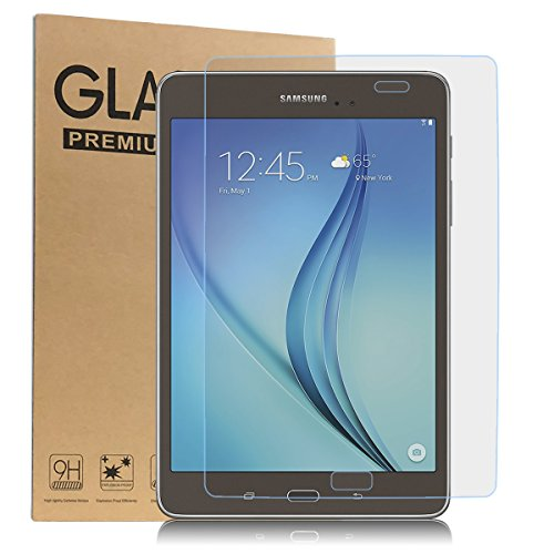 Samsung Galaxy Tab A 9.7 Screen Protector, Eontry [High Definition] [Scratch Resistant] [Bubble Free] Tempered Glass Screen Protector for Samsung Galaxy Tab A 9.7 inch SM-T550 [2 Pack]