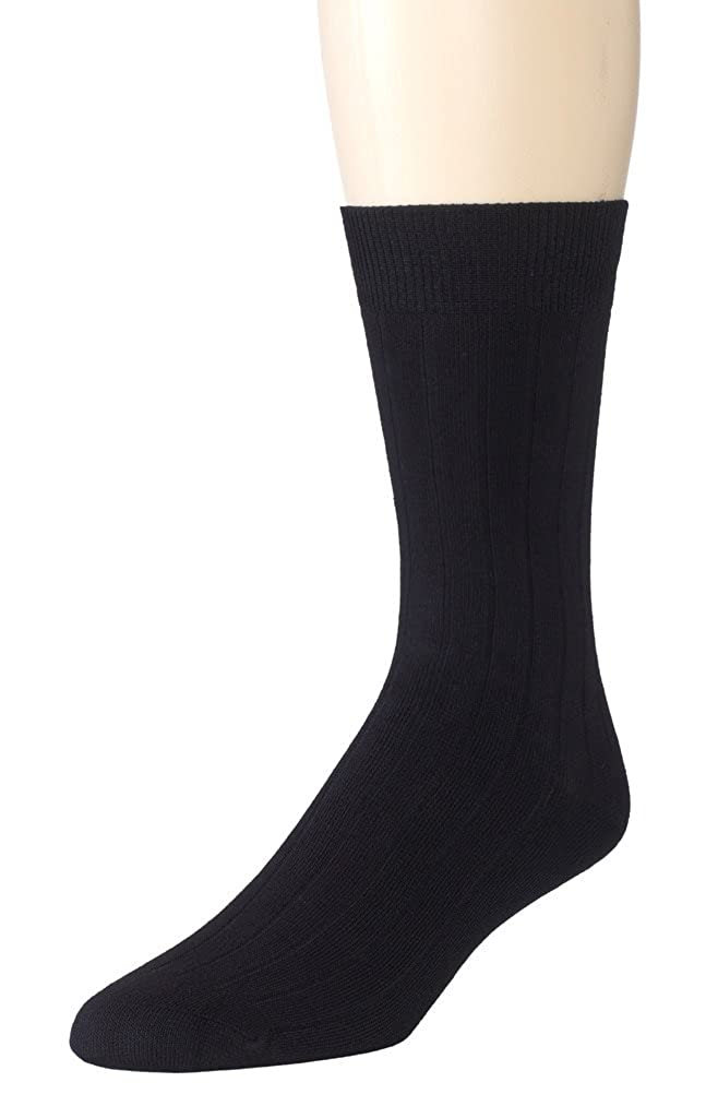 Sportoli Mens And Boys 3 Pack Super Soft Ribbed Knit Classic Cotton Bamboo Mid-Calf Crew Dress Socks