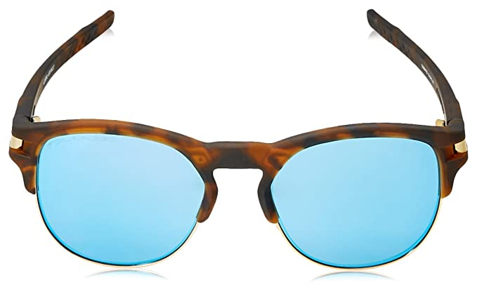 Oakley Herren Sonnenbrille Latch Key 939407, Braun (Matte Brown Tortoise/Sapphireiridiumpolarized), 52