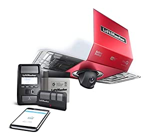 LiftMaster 85503 267 DC Battery Backup Belt Drive Wi-Fi Garage Door Opener with Integrated Camera Without Belt/Rail Assembly