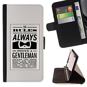 Momo Phone Case / Flip Funda de Cuero Case Cover - Gentleman Bowtie Retro Clever - HTC One Mini 2 M8 MINI