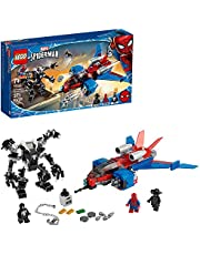 LEGO Marvel Spider-Man Spider-Jet vs Venom Mech 76150 LEGO Superhero Gift for Kids with Minifigures, Mech and Plane, New 2020 (371 Pieces)