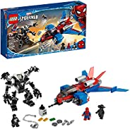 LEGO Marvel Spider-Man Spider-Jet vs Venom Mech 76150 Superhero Gift for Kids with Minifigures, Mech and Plane