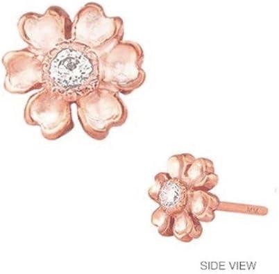 Mini Mini Jewels 14k Gold Brilliant Diamond Letter V Initial Elegant Frame Single Earring