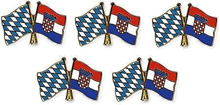 Yantec Freundschaftspin 2er Pack Bayern Schweiz Pin Anstecknadel Doppelflaggenpin
