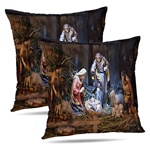 Soopat Decorative Throw Pillow Cover Square Cushion 20