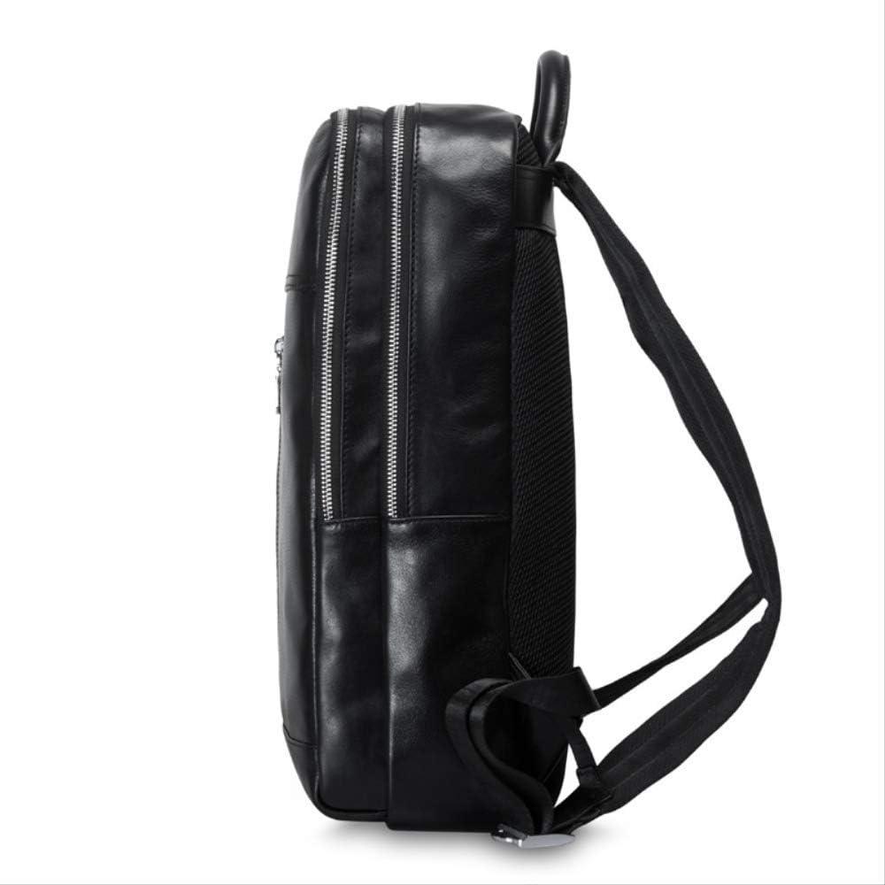 Large-Capacity Backpack Mens Leather Shoulder Bag Mens Computer Business Leisure Travel Bag